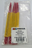 Partex MD-02003-40.1 NEW PA 02 Refills For MDH-2002 (QTY 103)