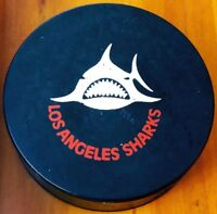 1972-74 LOS ANGELES SHARKS WHA VINTAGE OFFICIAL GAME PUCK BILTRITE CANADA RARE