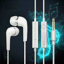 [2-5Packs]White 3.5mm In-Ear Headphone Earbud Headset w/ Mic For Samsung iPhonne