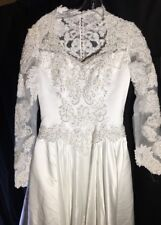 New W/ Tags Reembrroidered Mary's Bridal Wedding Dress Size 10 &Cathedral Train