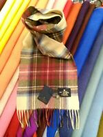 100% Pure Cashmere Scarf | The House of Balmoral | Hessian Dress Stewart Tartan