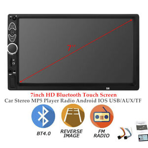 7''HD Bluetooth Touch Screen Auto Stereo MP5 Player Radio Android IOS USB/AUX/TF