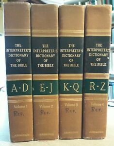 THE INTERPRETER'S DICTIONARY OF THE BIBLE, VOL 1-4, A-Z, 1962