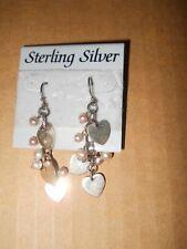 Sterling Silver Pink Freshwater Pearl Earrings