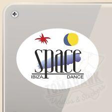 PEGATINA CLUB SPACE IBIZA OVALADA VINILO VINYL STICKER DECAL AUFKLEBER ADESIVI