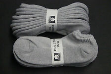 5 PAIRS SOLID GRAY LOW ANKLE SOCKS/NO SHOW COTTON 10-13 SPORTS CREW GRAY SOCKS