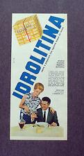 F634- Advertising Pubblicità - 1963 - IDROLITINA , ALCALINA FRIZZANTE