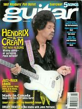 2 different Guitar magazine with Jimi Hendrix on cover 1997 2003 cream
