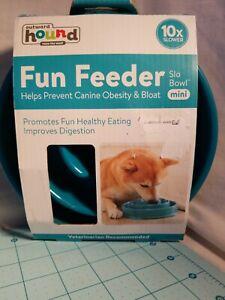 Outward Hound - Blue Fun Feeder, Slo Bowl Mini, Promotes Healthy Eating - NEW
