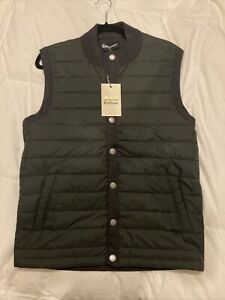 NWT Barbour essential Gilet Vest Mens Medium In Olive Green And Charcoal