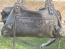Authentic Pewter Hardware Balenciaga FW 2004 Gray Twiggy  Bag Purse Shoulder