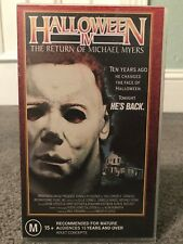 Halloween 4 VHS - Excellent Condition