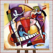 Large XL Modern Abstract Framed Box Canvas Print Alfred Gockel Stroking The Keys