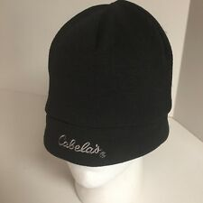 Cabela's  Beanie Knit Polyester Hat Black one size fits most nice clean EUC