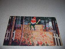 1950s HUMPTY DUMPTY at STORY BOOK LANE DEER PARK MICHIGAN VTG POSTCARD