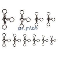35lb-175lb Assorted Swivels 1-3/0 Fishing Tackles Three-Way Snaps 30/60/120pcs