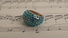 The Earring Boutique Turquoise Blue Swarovski Elements Crystal Statement Ring N