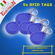 5x RFID TAG 13.56 MHz PORTACHIAVI ACCESSO ARDUINO IC ID CARD kit LETTORE TESSERA