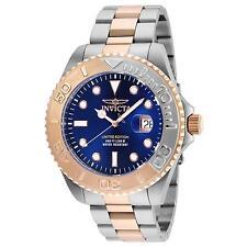 INVICTA MEN'S PRO DIVER STEEL BRACELET & CASE QUARTZ BLUE DIAL WATCH 24626