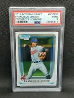 2011 Bowman Chrome Draft Francisco Lindor ROOKIE RC #BDPP53 PSA 9 MINT Mets MLB