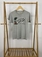 RARE VTG 80s Screen Stars Barq's Root Beer Famous Olde Tyme Thin T-Shirt Size M