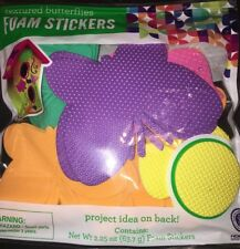 Horizon Group Textured Butterflies Foam Stickers 2.25 Oz