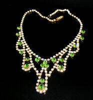 Zierliches Strass Collier - Crystal/Grün - 1A-Qualität aus Böhmen - #807