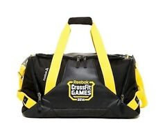 NWT Reebok CrossFit Games Duffle Black/Yellow Grip Gym Fitness Bag Elite! Rare!