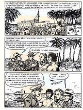 TAROU CONTRE LES SOLDATS JAPONAIS (BOB DAN) PLANCHE ORIGINALE AREDIT  PAGE 35