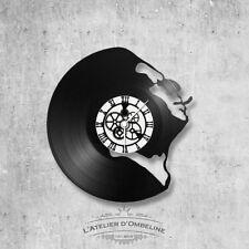 Horloge en disque vinyle 33 tours thème Gainsbourg