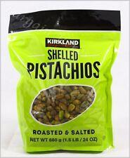 Kirkland Signature Shelled Pistachios Roasted Salted 24oz Sealed Free Shipping