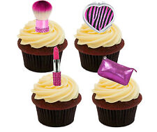 Glamour Mix Edible Cup Cake Toppers, Standup Bun Fairy Decorations Girly Female