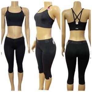 Victorias Secret PINK Ultimate Sport Set Unlined Bra & Crop Tight Legging