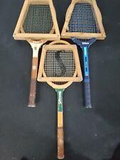 Vintage Lot of 3 Wooden Racket Billie Jean Autograph Stan Smith Slammer Spalding