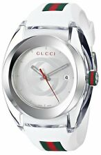 New Gucci YA137102 Sync White Silicone Strap Unisex Watch