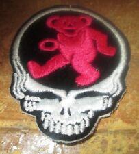 Grateful Dead Logo Patch LESH NEW RED WHITE BLUE JAM Iron On NOS Garcia Bear VTG