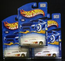 3 NEW HOT WHEELS PURPLE PASSION 200 WHITE DICE FLAME GOLD LACE '49 MERCURY