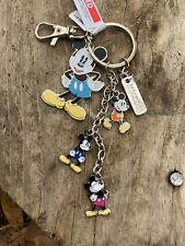 Disney Parks Mickey Figurines Charms Metal Key Chain