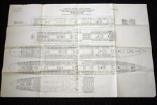 CGT FRENCH LINE SS FRANCE 1920 Deck Plan Proof
