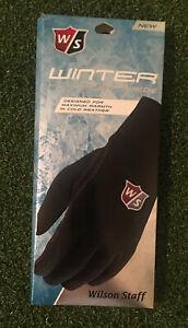 Wilson Staff Winter Glove-Men's Pair-Black Microfiber Suede-Select Size