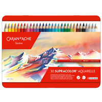 Caran d'Ache Supracolor Artist Quality Soft Water Soluble Colour Pencil 30 Set