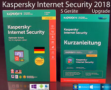KASPERSKY Internet Security 2018 AGGIORNAMENTO BOX 5 dispositivi (PC/Mac/Android) OVP NUOVO