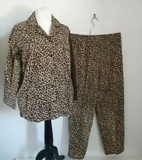 La Senza Size large animal print pyjamas PJ's leopard print nightwear NWT