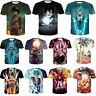 Men Women 3D T-Shirt Anime Dragon Ball Z Super Saiyans Print Short Sleeve S-5XL