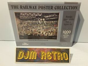 THE RAILWAY POSTER COLLECTION.LONDONS WATERLOO STATION .1000 PIECE JIGSAW PUZZLE