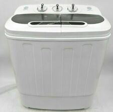 Open Box Zeny Compact Portable Washing Machine With Dryer - White -Nr1584