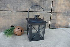 Black Mini Square Metal & Glass Candle Lantern ~ Wedding Centerpiece