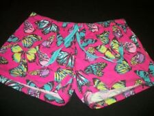 KAWAII PRETTY IN PINK & COLORS BUTTERFLYS LINGERIE SLEEP SHORTS DRAWSTRING, LG