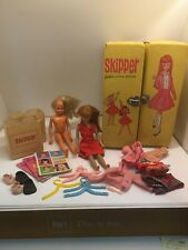 Vintage Skipper Barbie Dolls w/ Carying Case & Accessories - See Pics
