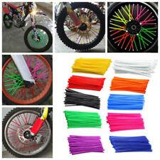 BG_ 36Pcs/Pack Universal Motorcycle Wheel Spoke Wraps Solid Color Decor Candy
